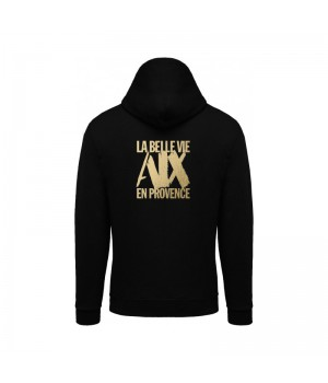 Sweat Capuche Mixte Noir