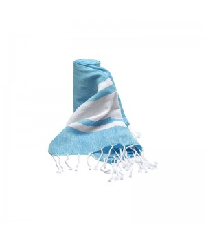 Shower wrap sky blue/white