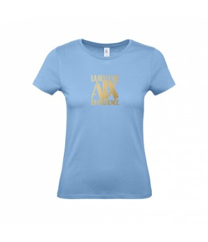 Tee Shirt women sky blue