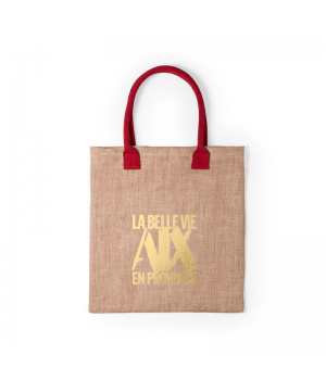 The Hessian shopping bag red