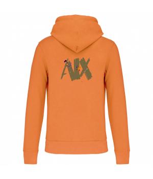 Hooded sweatshirt orange
